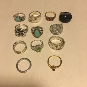 Jewelry - 14 Rings Various sizes